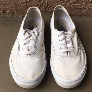 Women Vans Classic White Shoes Size 7.5